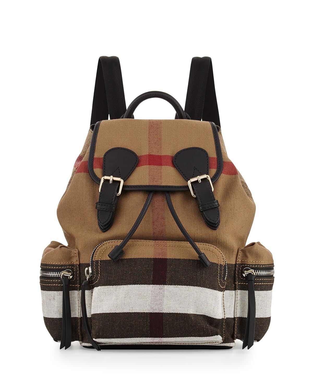 4f7c7715fdab Burberry Medium Check Canvas Backpack