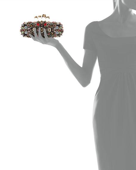 Alexander McQueen Jeweled Knuckle Box Clutch Bag, Multi