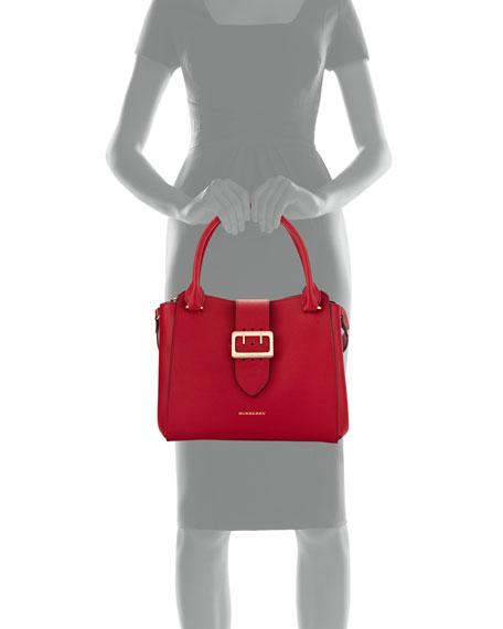 Buckle Medium Tote Bag, Parade Red