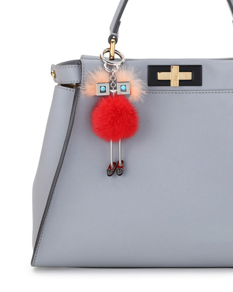 Chick Mink-Fur Bag Charm