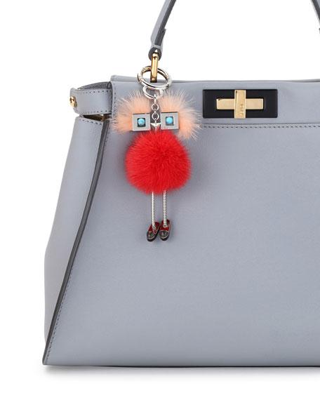 Chick Mink-Fur Bag Charm