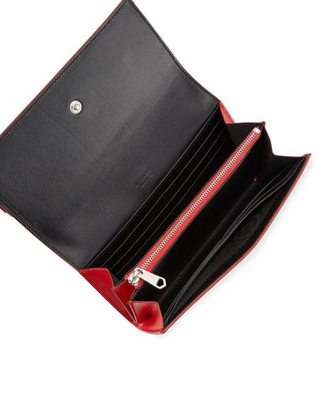 Horizon Continental Flap Wallet, Red
