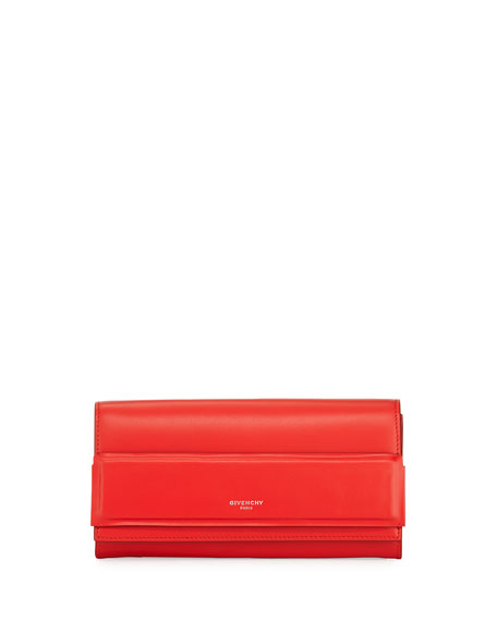 Givenchy Horizon Continental Flap Wallet, Red