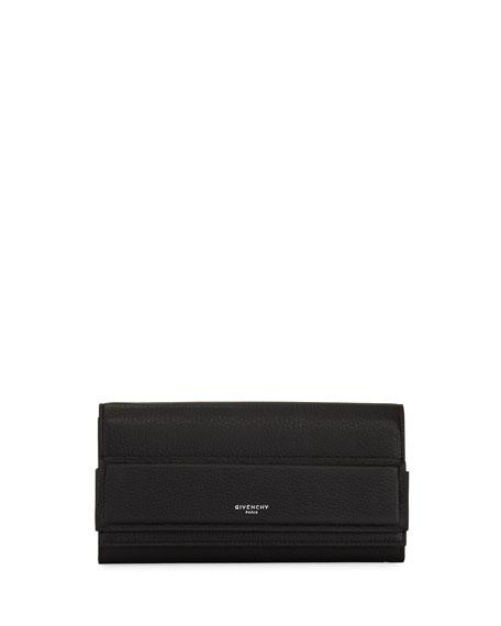 Horizon Continental Flap Wallet, Black