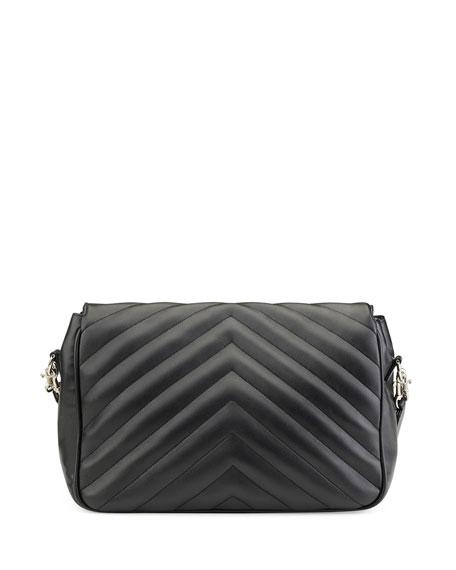 Monogram Large Slouchy Matelassé Leather Shoulder Bag