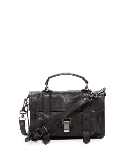 Proenza Schouler PS1 Tiny Crossbody Satchel Bag, Black
