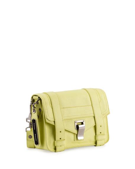 PS11 Mini Leather Shoulder Bag, Pale Citrus