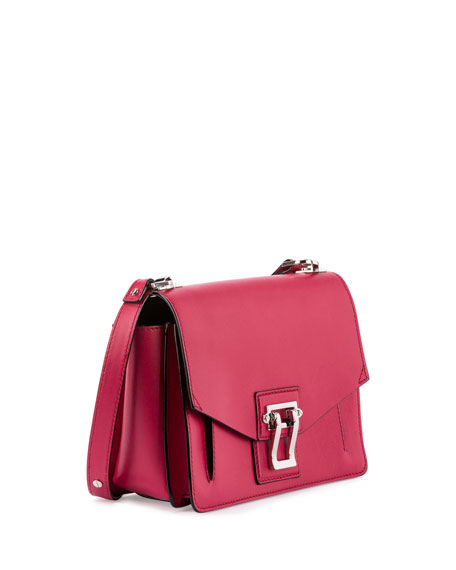 Hava Leather Shoulder Bag, Magenta