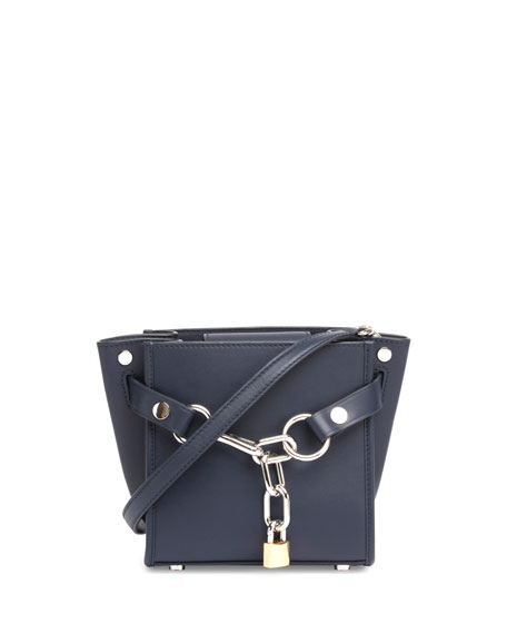 Alexander Wang Attica Mini Chain Satchel Bag, Navy
