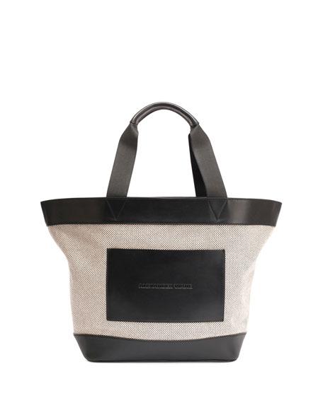 Alexander Wang Leather-Trim Canvas Tote Bag, Black/White