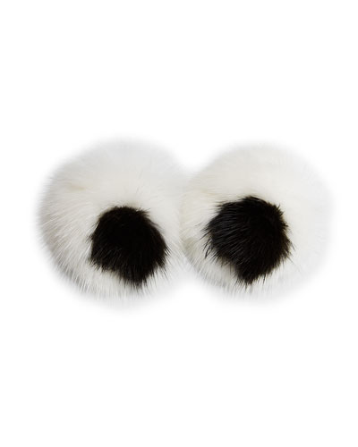 Eyes Mink Sticker for Handbag, White
