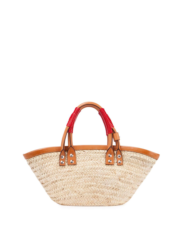 3ae008d9bdf9 Balenciaga Bistro Panier Small Straw Tote Bag | Neiman Marcus