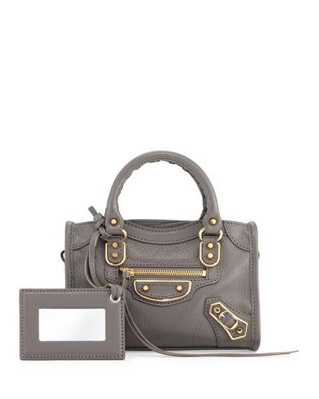 Balenciaga Classic Metallic Edge Nano City AJ Crossbody