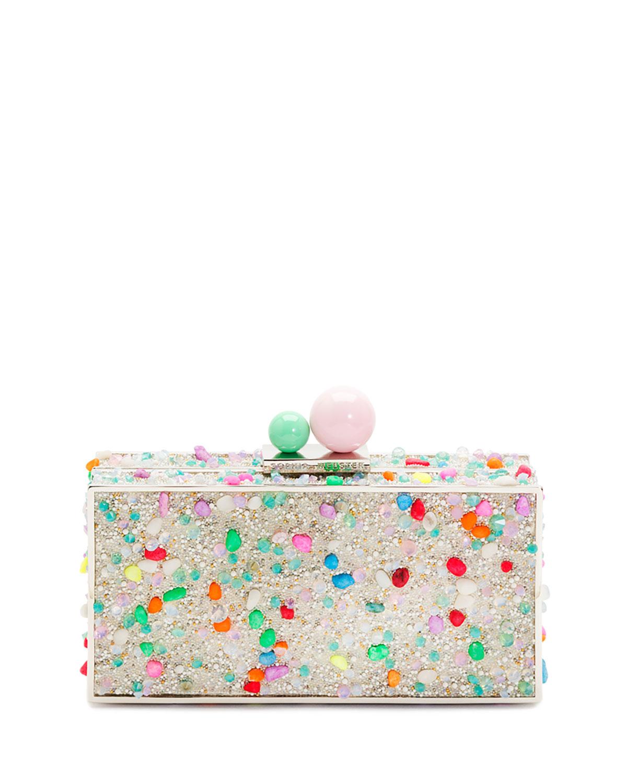 Clara Crystal Box Clutch Bag Lollipop