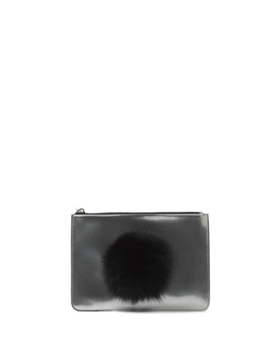 Small Bunny Envelope Pouch, Silver