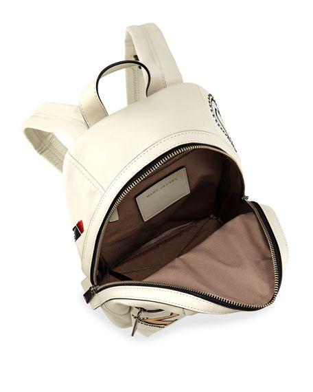 MJ Collage Biker Leather Backpack