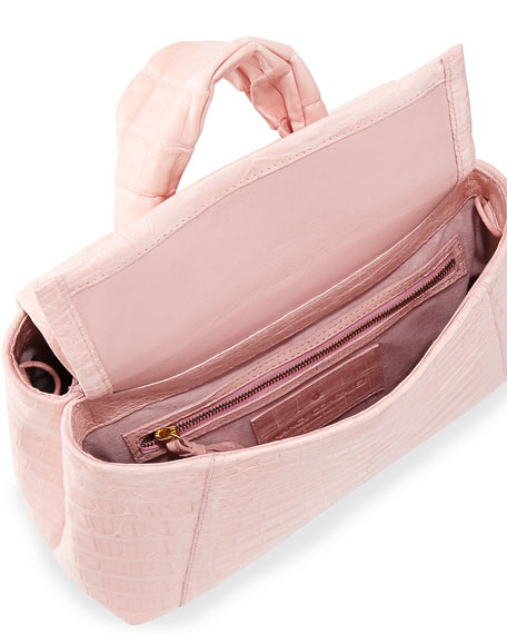 Crocodile Knot-Handle Mini Tote Bag