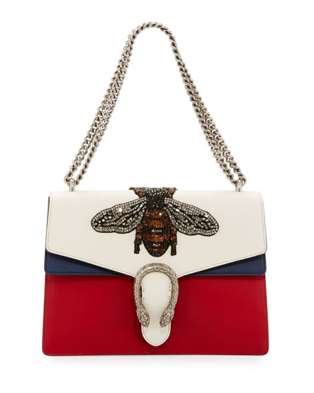 Gucci Dionysus Medium Embroidered Leather Shoulder Bag,