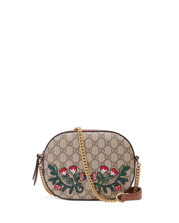 ef7ce8becc38 Gucci GG Supreme Embroidered Mini Chain Bag, Multi | Neiman Marcus