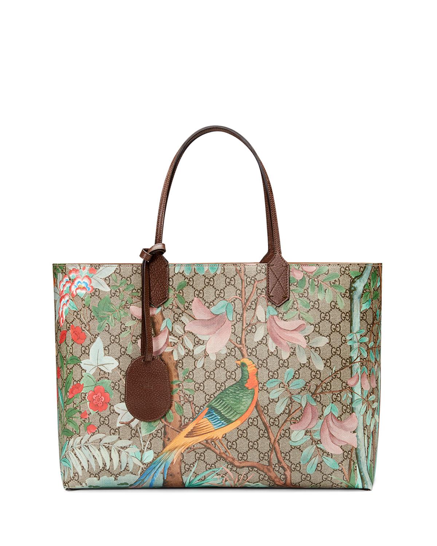f86147f29a8 Gucci Tian GG Supreme Large Tote Bag