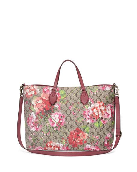 GG Blooms Top-Handle Tote Bag, Rose/Multi