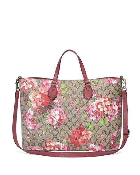 GG Blooms Top-Handle Tote Bag, Rose/Multi