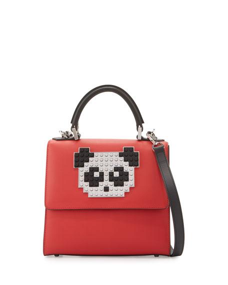 Les Petits Joueurs Mini Alex Panda Shoulder Bag,