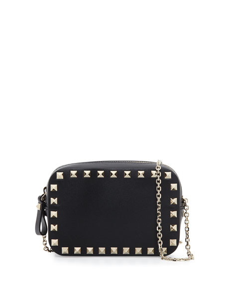 Rockstud Small Chain Camera Crossbody Bag