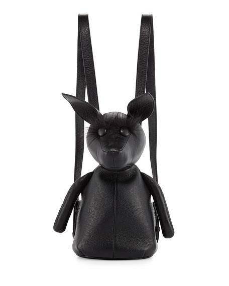 Kendall + Kylie Normie Dog Leather Backpack, Black