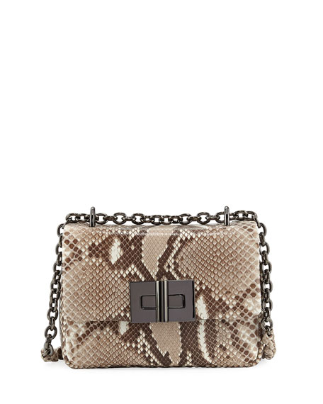 Natalia Python Chain Crossbody Bag