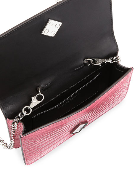 Ginny Black Widow Clutch Bag, Pink