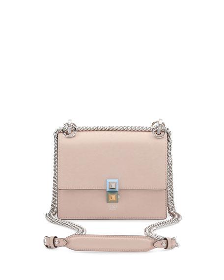 12eafd7e7311 Fendi Kan I Mini Leather Chain Shoulder Bag, Beige