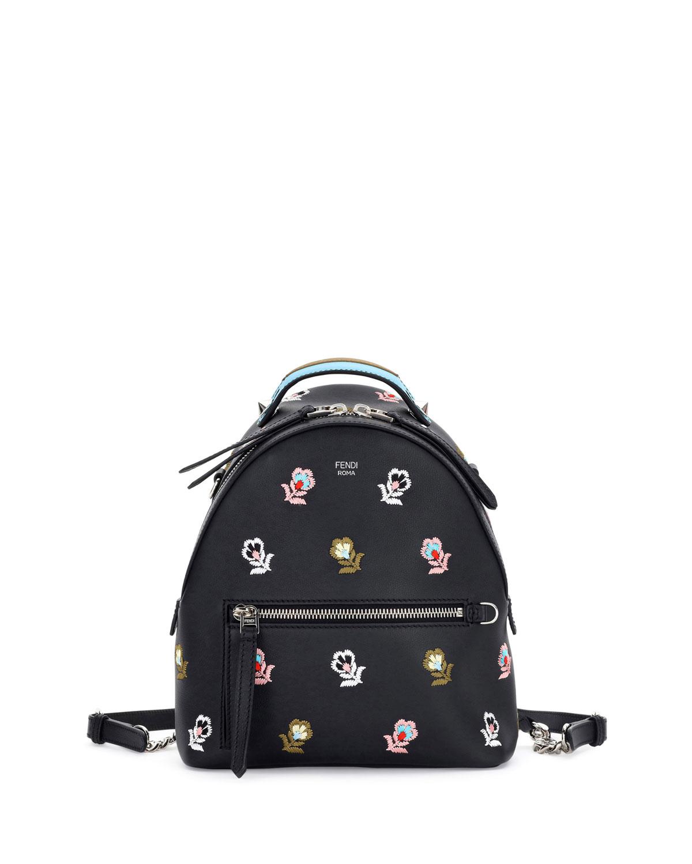 dbab5c5572ba Fendi Zaino Mini Floral-Embroidered Backpack