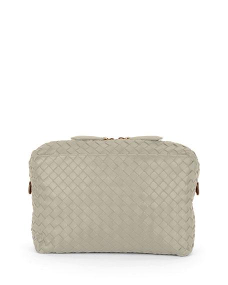 Small Intrecciato Camera Bag, Gray