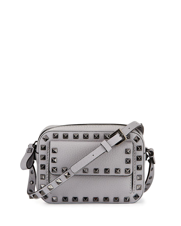 7c4d6f498e Valentino Garavani Rockstud Small Flap Pocket Camera Crossbody Bag ...