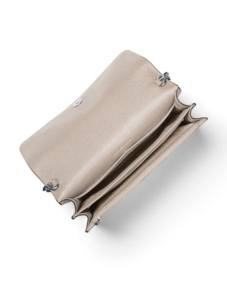 Daniela Large Saffiano Crossbody Bag, White