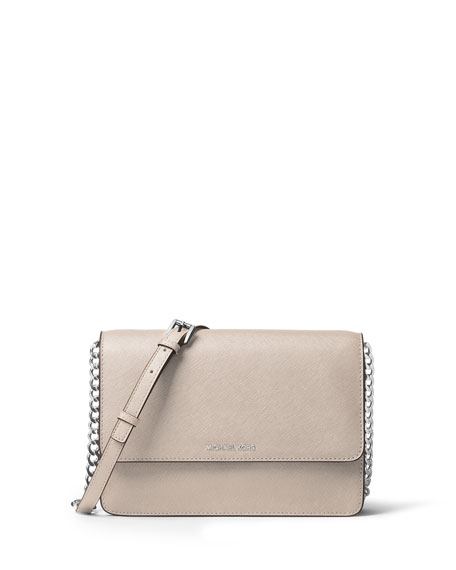 Daniela Large Saffiano Crossbody Bag, White