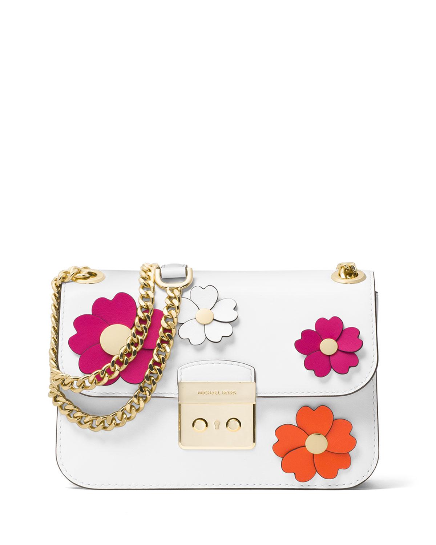 bfe81ac1e651 MICHAEL Michael Kors Sloan Editor Medium Floral Shoulder Bag ...