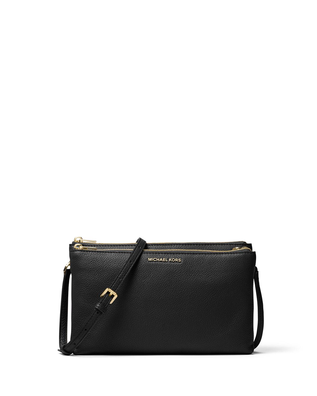 7ec47d873d636c MICHAEL Michael Kors Adele Double-Zip Crossbody Bag | Neiman Marcus
