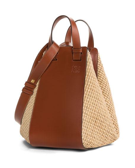 Hammock Raffia Tote Bag, Brown
