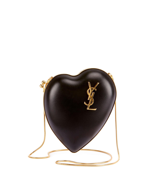 Saint Laurent Love Leather Box Clutch Bag 2fea12af13cd7