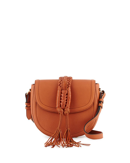 Altuzarra Ghianda Woven Knot Saddle Bag, Saddle