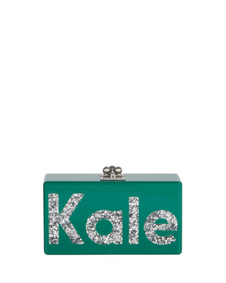 Edie Parker Jean Kale Acrylic Clutch Bag, Multi
