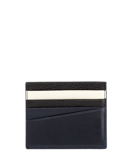 Talbyn Men's Leather Card Holder, Blue