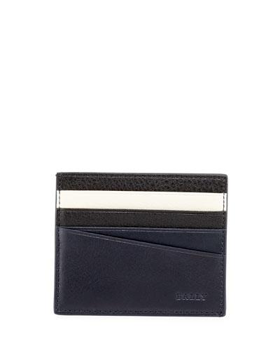 Talbyn Men's Leather Card Holder, Blue