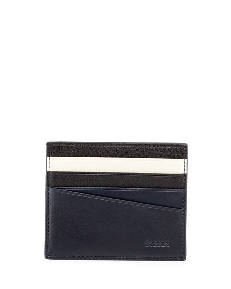 Bally Talbyn Men's Leather Card Holder, Blue