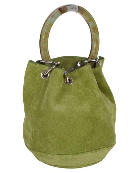 Olivia Small Suede Bucket Bag