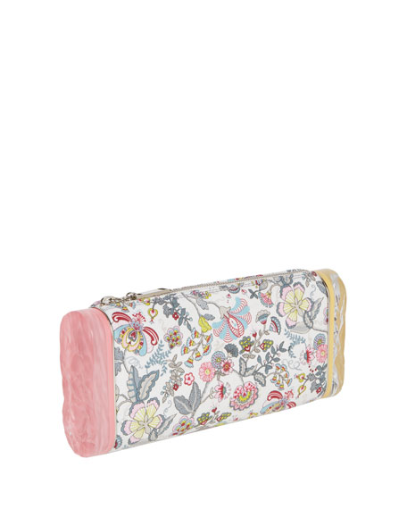 Lara Soft Floral Clutch Bag, Pink