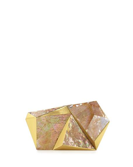 Rafe Azura Asymmetric Minaudiere, Gold