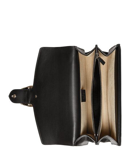Dionysus Small Embroidered Shoulder Bag, Black/Multi
